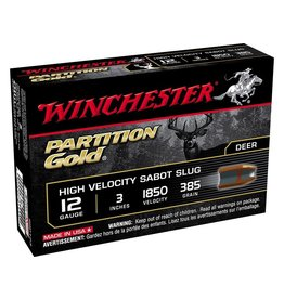 "WINCHESTER WINCHESTER 12GA PARTITION GOLD SLUGS 3"" 5 RDS"