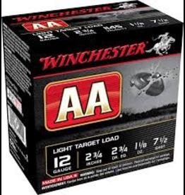 "WINCHESTER WINCHESTER AA LIGHT TARGET LOAD 12 GA 2 3/4"" 1 1/8 OZ"
