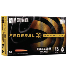 FEDERAL FEDERAL GOLD MEDAL BERGER 6MM CREEDMOOR 105GR HYBRID