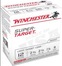 "WINCHESTER WINCHESTER SUPER-X SUPER TARGET 12 GA 2 3/4"" #8"