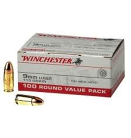 WINCHESTER WINCHESTER USA 9MM LUGER 115 GR 100 ROUND VALUE PACK