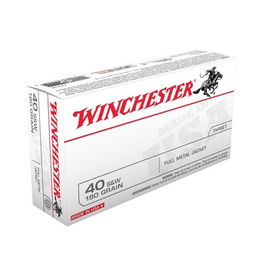 WINCHESTER WINCHESTER 40 S&W 180GR FMJ 500 RDS CASE