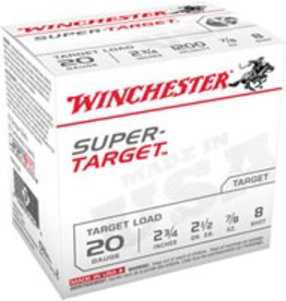 "WINCHESTER WINCHESTER 20GA 2 3/4"" 25 SHOTSHELLS #8"