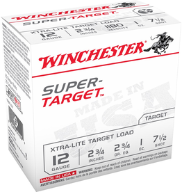 "WINCHESTER WINCHESTER SUPER TARGET 12 GA 2 3/4"" 1OZ #7.5 25 RDS"