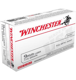 WINCHESTER WINCHESTER 9MM LUGER 115GR FMJ 500 RDS