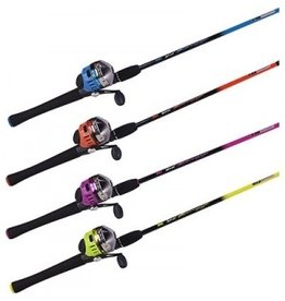 ZEBCO ZEBCO SLASH 602 MEDIUM SPINCAST ROD AND REEL COMBO ASSORTED COLORS