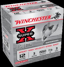 "WINCHESTER WINCHESTER 12GA 3"" 1.1/8 OZ #3 HV STEEL 25 RDS"