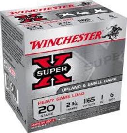 """WINCHESTER WINCHESTER 20GA 2.75"""" 1 OZ #6"""
