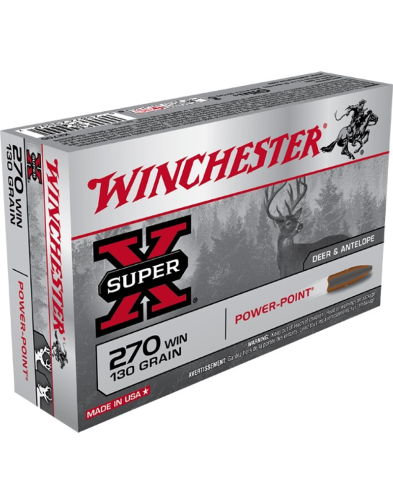 WINCHESTER WINCHESTER 270 WIN 130GR POWER POINT 20 RDS