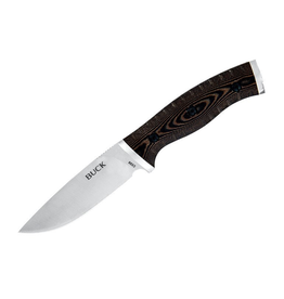 BUCK BUCK SELKIRK SMALL FIXED BLADE BLACK/BROWN MICARTA HANDLE