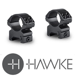 HAWKE SPORT OPTICS HAWKE MATCH MOUNT RINGS 2 PC 30MM WEAVER MED