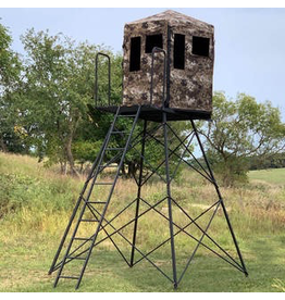 HAWK HAWK DOWN & OUT WARRIOR BLIND WITH 10 FOOT STAND KIT