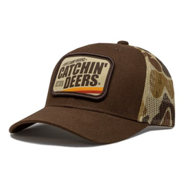 CATCHIN' DEERS CATCHIN' DEERS VINTAGE PATCH MESHBACK HAT -OLD SCHOOL CAMO