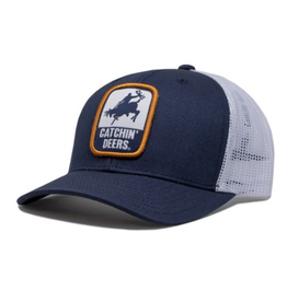 CATCHIN' DEERS CATCHIN' DEERS  GIDDY UP MESHBACK HAT- BLUE & WHITE