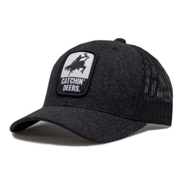 CATCHIN' DEERS CATCHIN' DEERS GIDDY UP MESHBACK HAT- DARK GRAY WOOL
