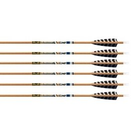 "GOLD TIP GOLD TIP ARROWS TRADITIONAL XT 5"" BARRED FEATHERS 500"