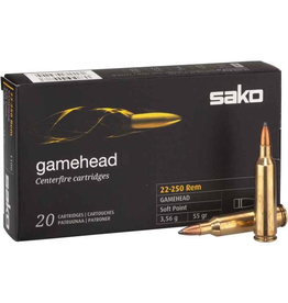 SAKO FINLAND SAKO GAMEHEAD 22-250 REM 110G 55GR SOFT POINT 20 RDS