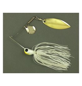 ULTRA TUNGSTEN ULTRA TUNGSTEN T-BLADE SPINNERBAIT PEARLY WHITE DOUBLE WILLOW SILVER 3/8 OZ