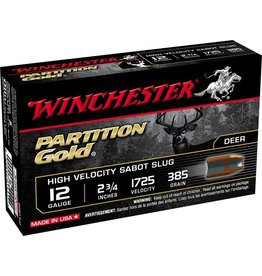 WINCHESTER WINCHESTER 12GA SABOT PARTITION  GOLD SLUGS 5 RDS