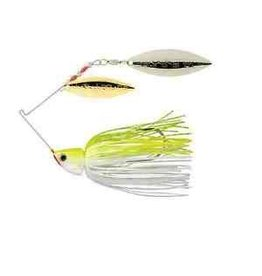 STRIKE KING STRIKE KING BURNER SPINNERBAIT 1/2 OZ CHARTREUSE WHITE