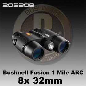 BUSHNELL BUSHNELL FUSION 1 MILE ARC 8X 32MM LASER RANGEFINDER BINOCULAR BLACK