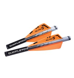 "NEW ARCHERY NAP QUICKFLETCH 3"" HELLFIRE VANES X-BOW"