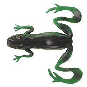 "BERKLEY BERKLEY POWERBAIT REALISTIX KICKER FROG 4/0 WIDE GAP HOOK BULLFROG 4"" 3CT"