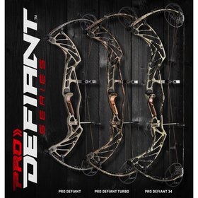 "HOYT ARCHERY 2017 HOYT PRO DEFIANT 34 DFX RH 60# (#2 27-29"") BLACKOUT (DEMO)"