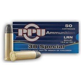 PPU PPU AMMUNITION 38 SPECIAL 158GR