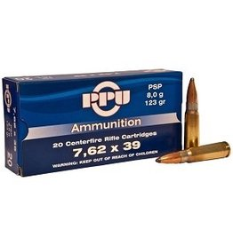 PPU PPU AMMUNITION .34 RIFLE AMMO 7.62 X 39 PSP