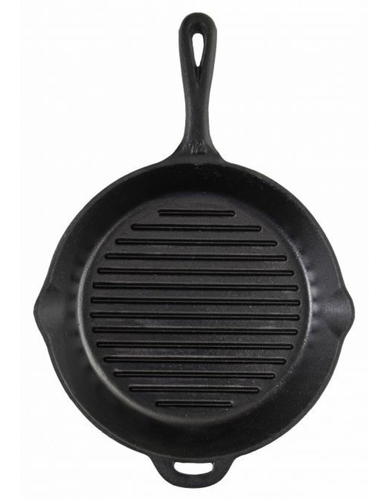 "CAMP CHEF CAMP CHEF 12"" CAST IRON SKILLET W/ RIBS"