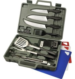 OUTDOOR EDGE OUTDOOR EDGE CUT-N-QUE PRO 14 PC KNIFE AND GRILLING KIT