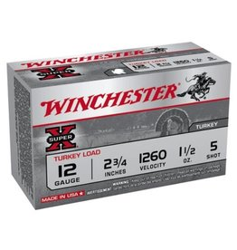 WINCHESTER WINCHESTER 12 GA 2 3/4 #5 SUPER-X 1.5 OZ TURKEY LOAD 10 SHELLS