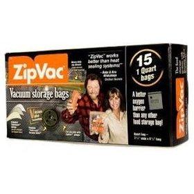 ZIPVAC VACUUM STORAGE BAGS 1 GALLON 12PK