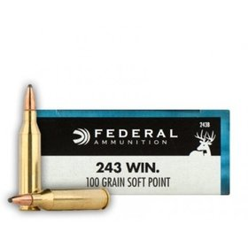 FEDERAL FEDERAL AMMUNITION 243 WIN 100GR SP