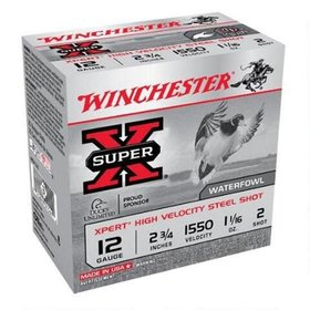"WINCHESTER WINCHESTER 12GA 2 3/4"" 1 1/16OZ #2 HS STEEL 25 SHELLS"