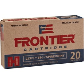 HORNADY HORNADY FRONTIER CARTRIDGE 223 REM 55 GR SPIRE POINT 20 RDS