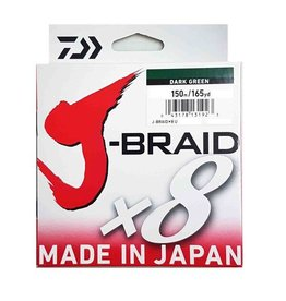 DAIWA DAIWA J-BRAID X8 15LB 150M DARK GREEN