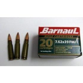 BARNAUL BARNAUL 7.62x39 123GR. FMJ 20RDS