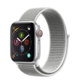Apple Watch series 4 GPS, 44MM, Silver Aluminium Case, Seashell Sport Loop