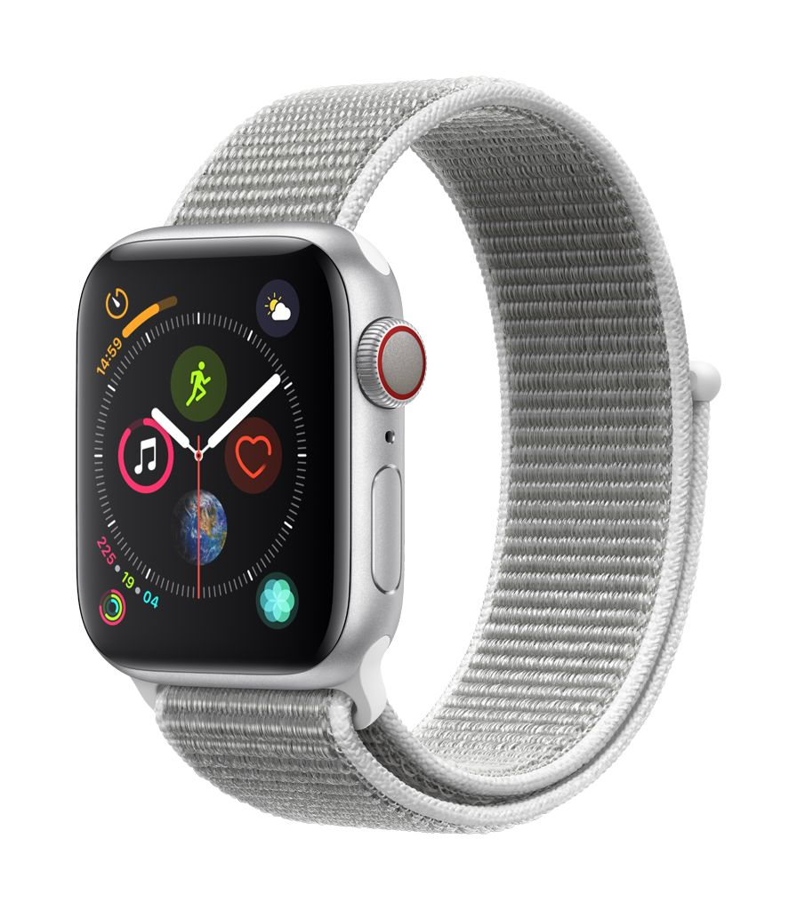 Apple Watch series 4 GPS, 44MM, Silver Aluminium Case, Seashell Sport Loop