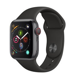 Apple Watch series 4 GPS, 44MM, Space Grey Aluminium Case, Black Sport Band