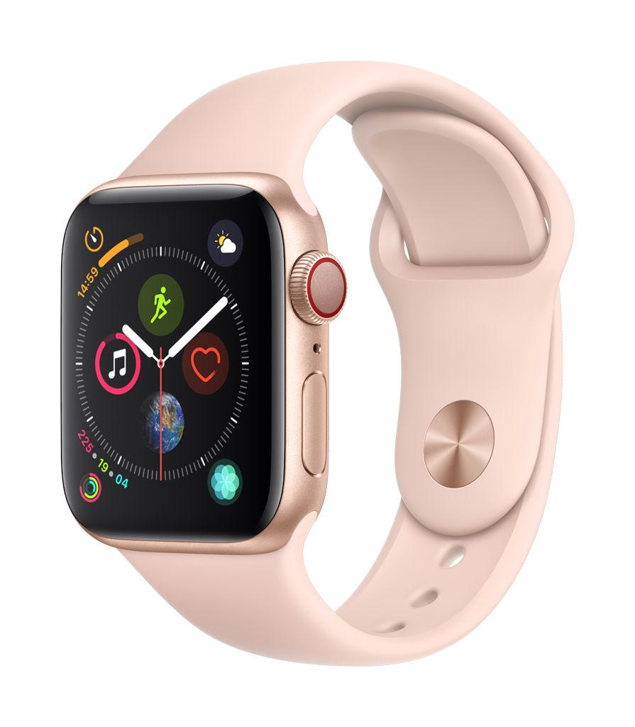Apple Watch series 4 GPS, 44MM, Gold Aluminium Case, Pink Sand Sport Band