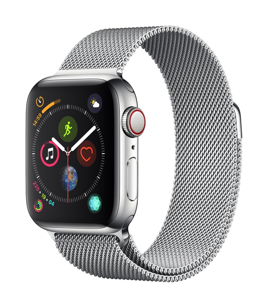 Apple Watch series 4 GPS, Cellular, 44MM, Stainless Steel Case, Milanese Loop