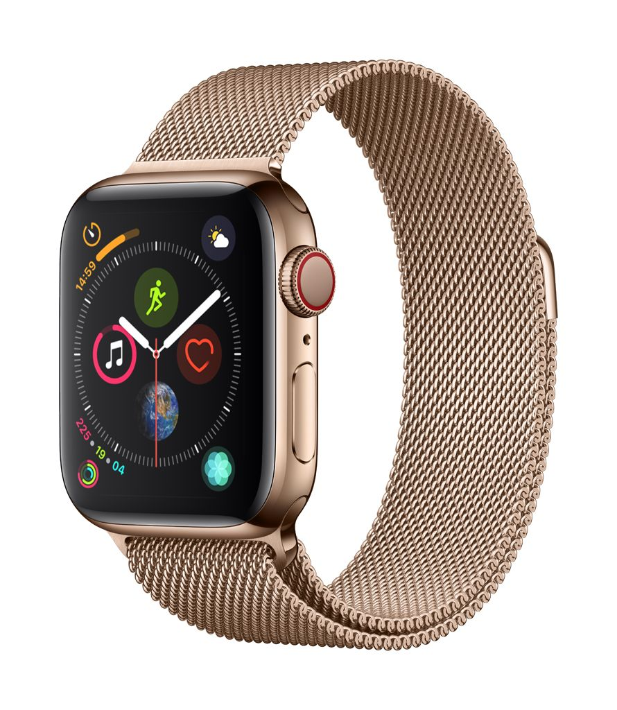 Apple Watch series 4 GPS, Cellular, 44MM, Space Black Stainless Steel Case, Space Black Milanese Loop