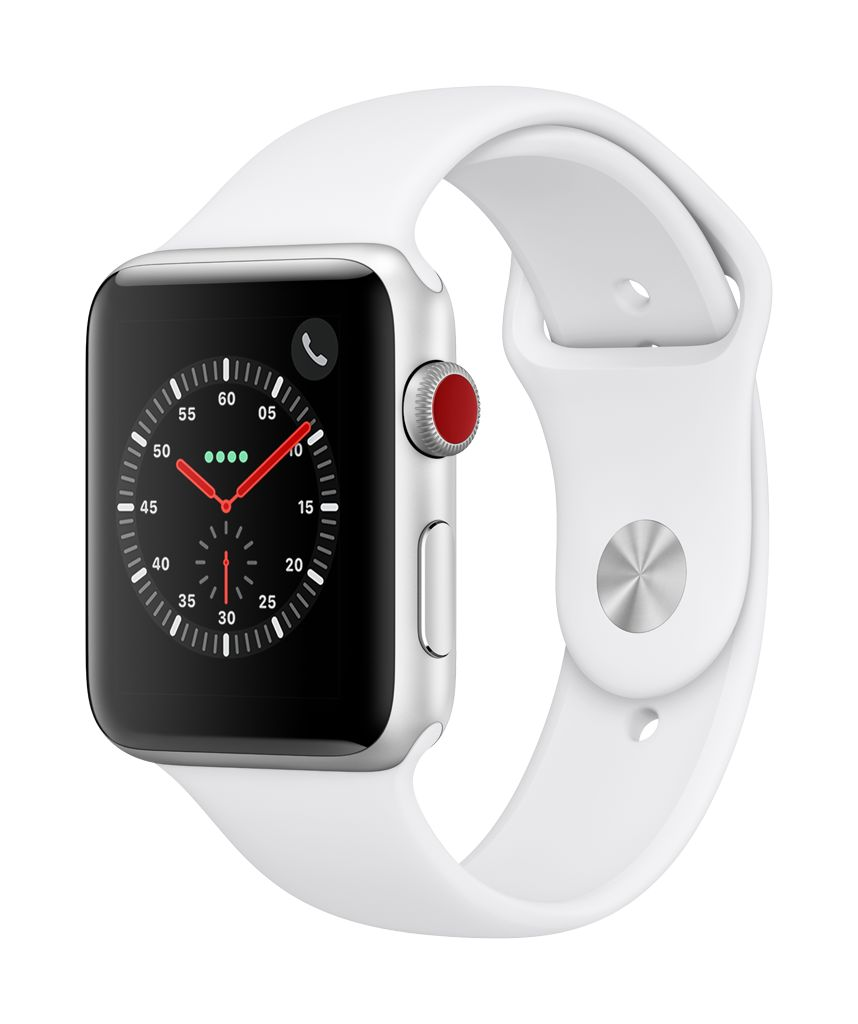 Apple Watch series 3 GPS, 42MM, Silver Aluminium Case, White Sport Band