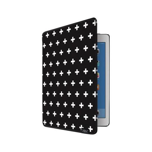 3SIXT Flash Folio iPad Air 2 - Black Cross