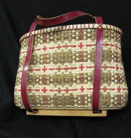 Woven Designs Madras Plaid Tote Basket Pattern