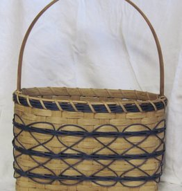 Woven Designs Reflected Heart Tote Basket Pattern