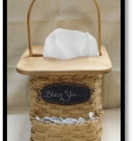 Woven Designs Bless You Tissue Box Basket Pattern